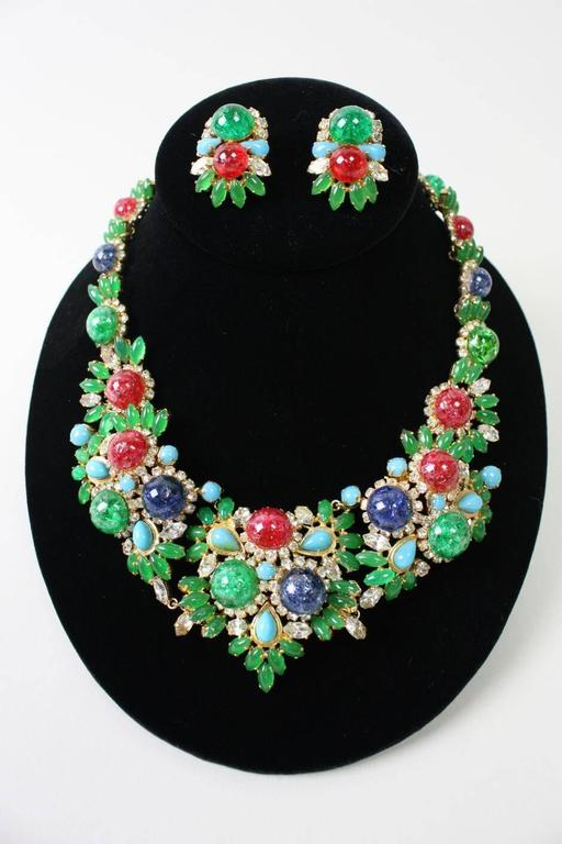 1960's Christian Dior Necklace & Earrings 2