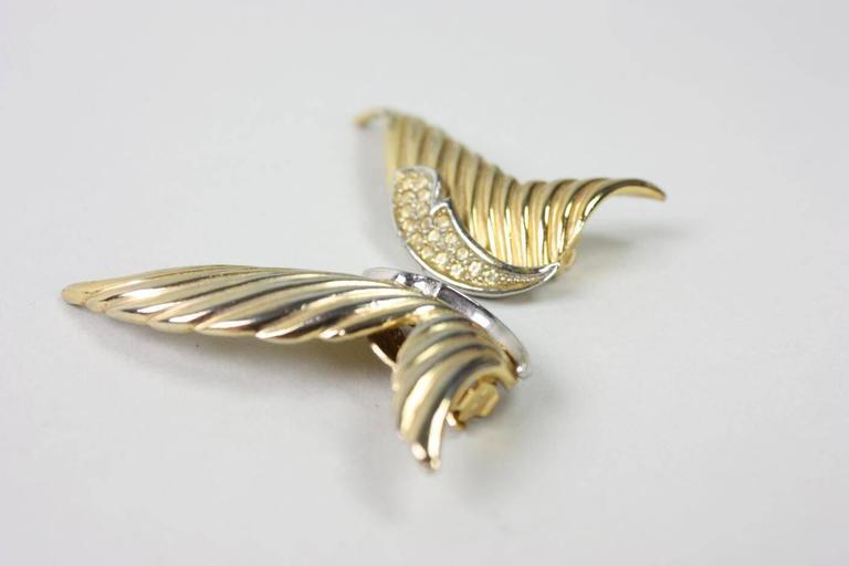 1980's Butler & Wilson Gold-Toned Wing Earrings 5
