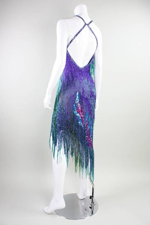 Bob Mackie 1980's Beaded Cocktail Dress For Sale 2