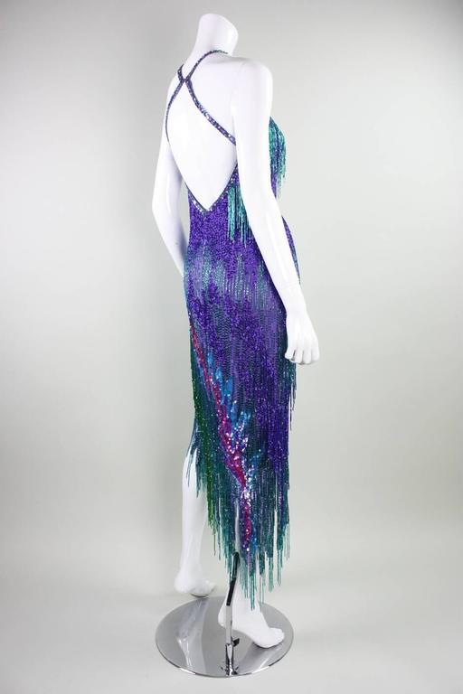 Women's Bob Mackie 1980's Beaded Cocktail Dress For Sale