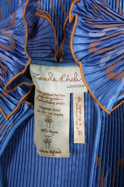 Zandra Rhodes Pleated & Silkscreened Jacket For Sale 3