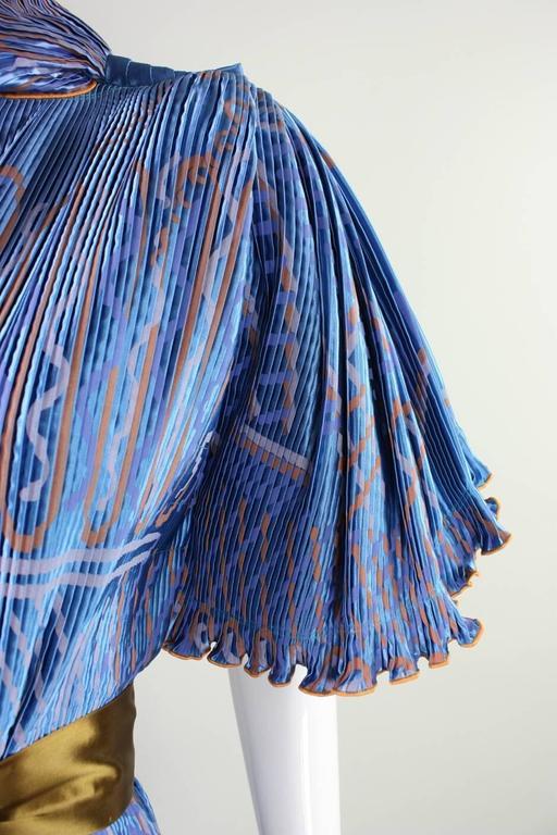 Zandra Rhodes Pleated & Silkscreened Jacket For Sale 2