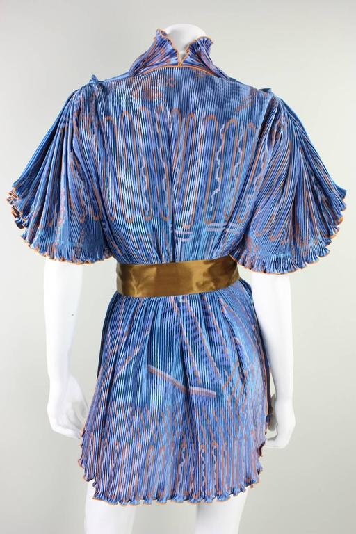 Zandra Rhodes Pleated & Silkscreened Jacket In Excellent Condition For Sale In Los Angeles, CA