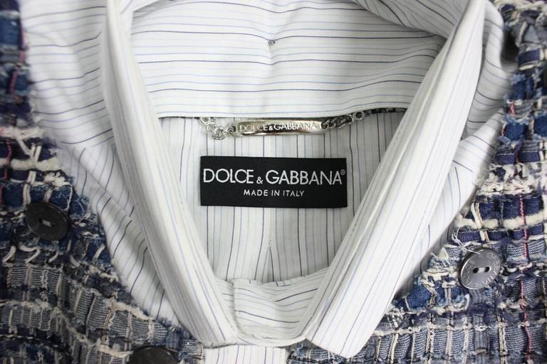 Dolce & Gabbana Woven Denim Jacket For Sale 2