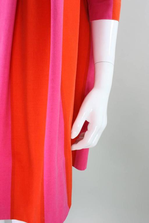 1960's Marimekko Striped Mini Dress with Sash For Sale 3
