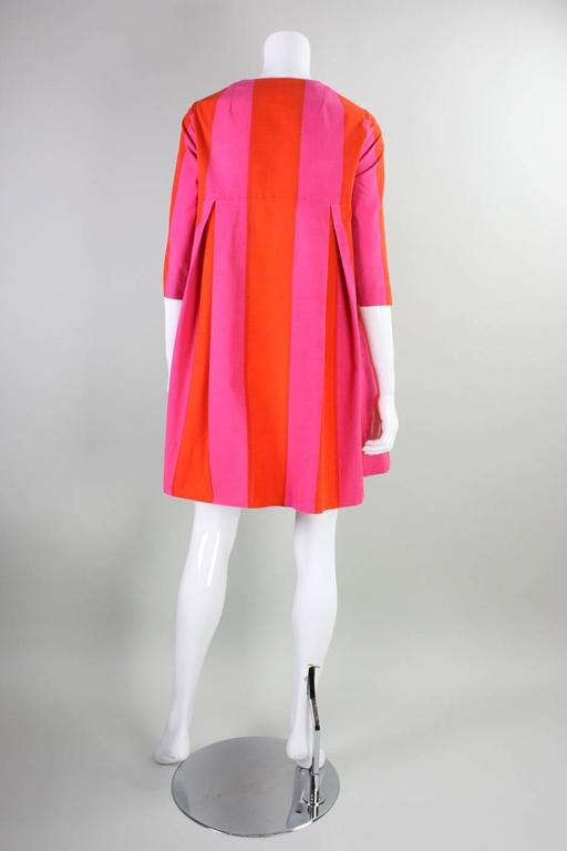 1960's Marimekko Striped Mini Dress with Sash In Excellent Condition For Sale In Los Angeles, CA