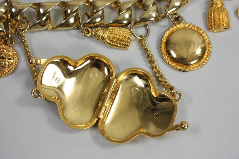 1990's Escada Gold-Toned Charm Belt 4