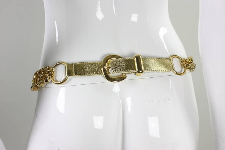 1990's Escada Gold-Toned Charm Belt 3