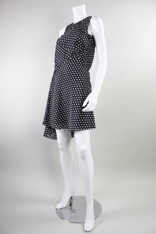 2003 Comme des Garcons Dotted Asymmetrical Dress In Excellent Condition For Sale In Los Angeles, CA