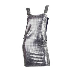 1980's Paco Rabanne Metal Studded Ensemble