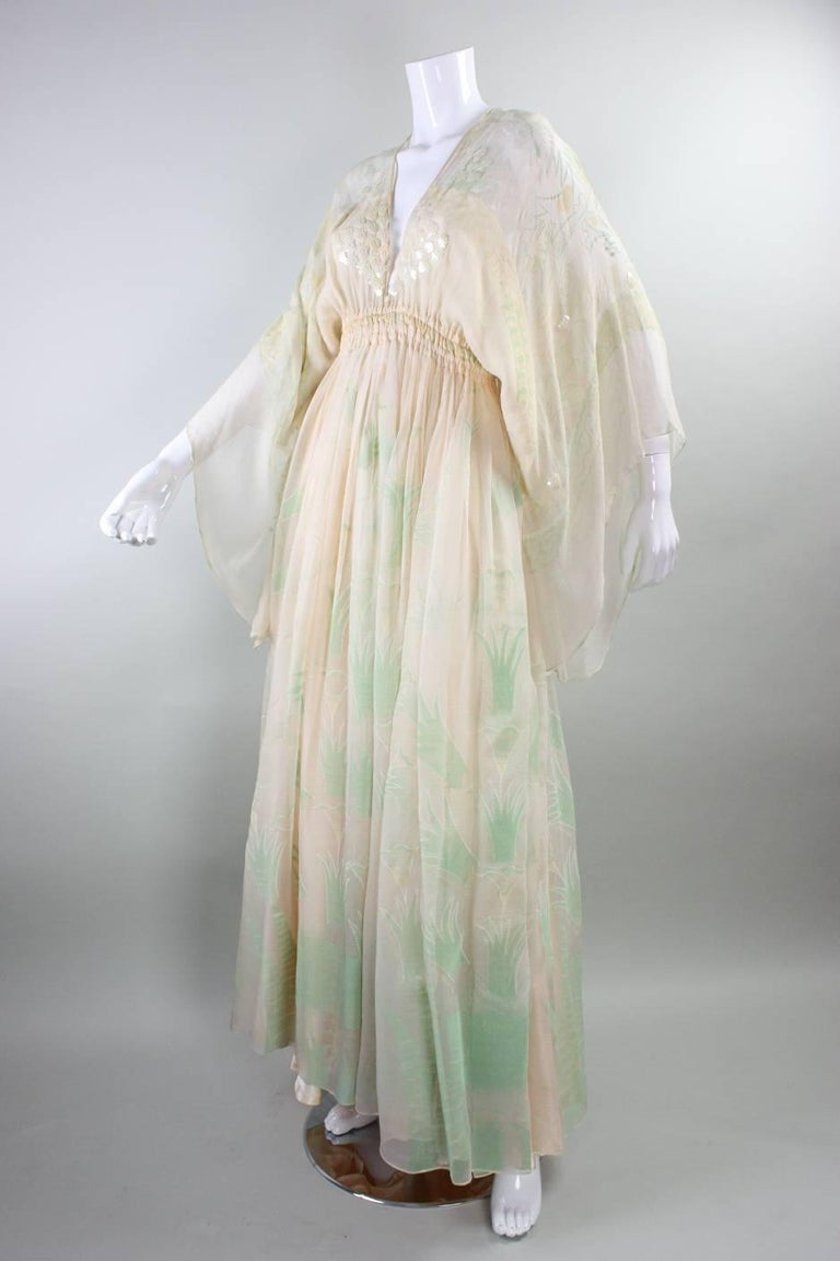 1970's Zandra Rhodes Field of Lilies Gown 6