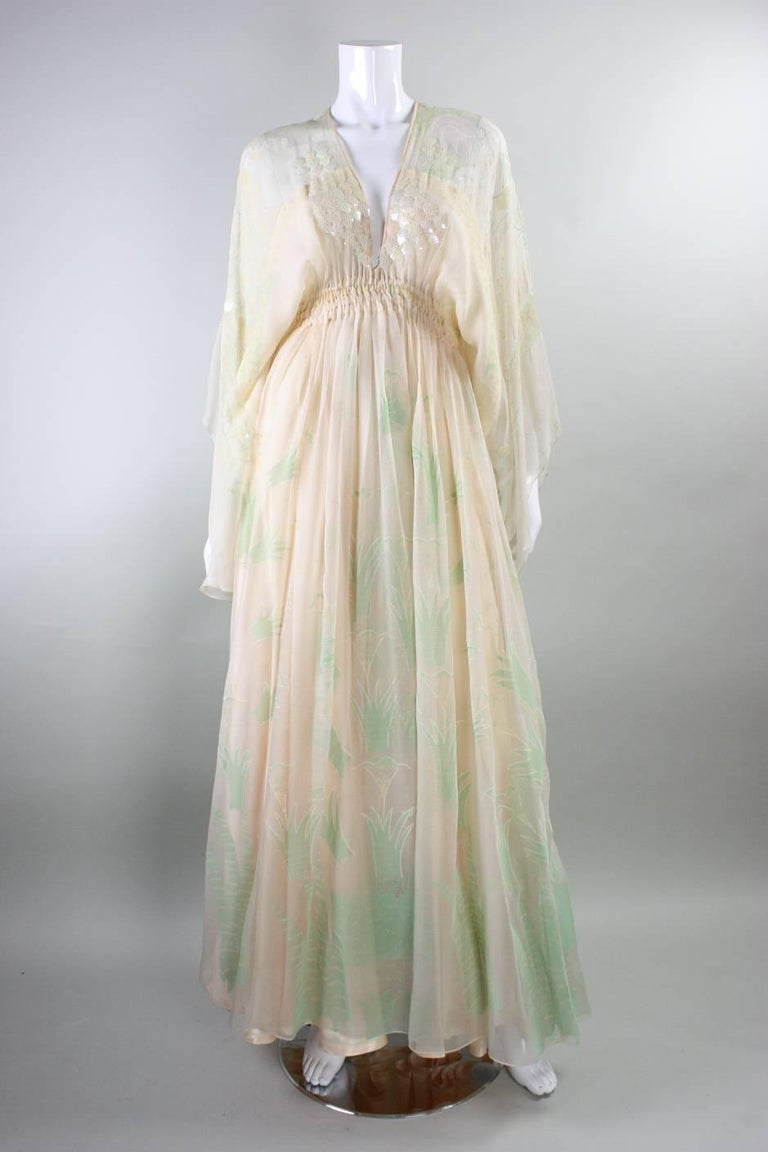 1970's Zandra Rhodes Field of Lilies Gown 2