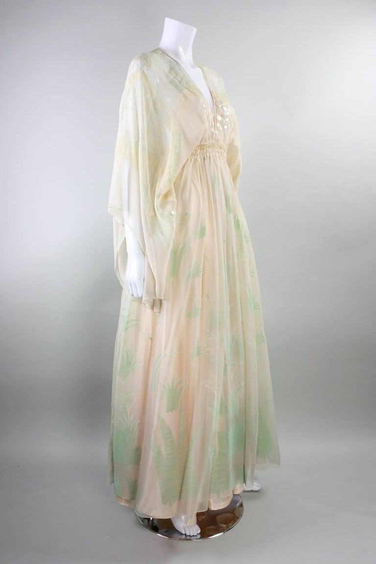 1970's Zandra Rhodes Field of Lilies Gown 3