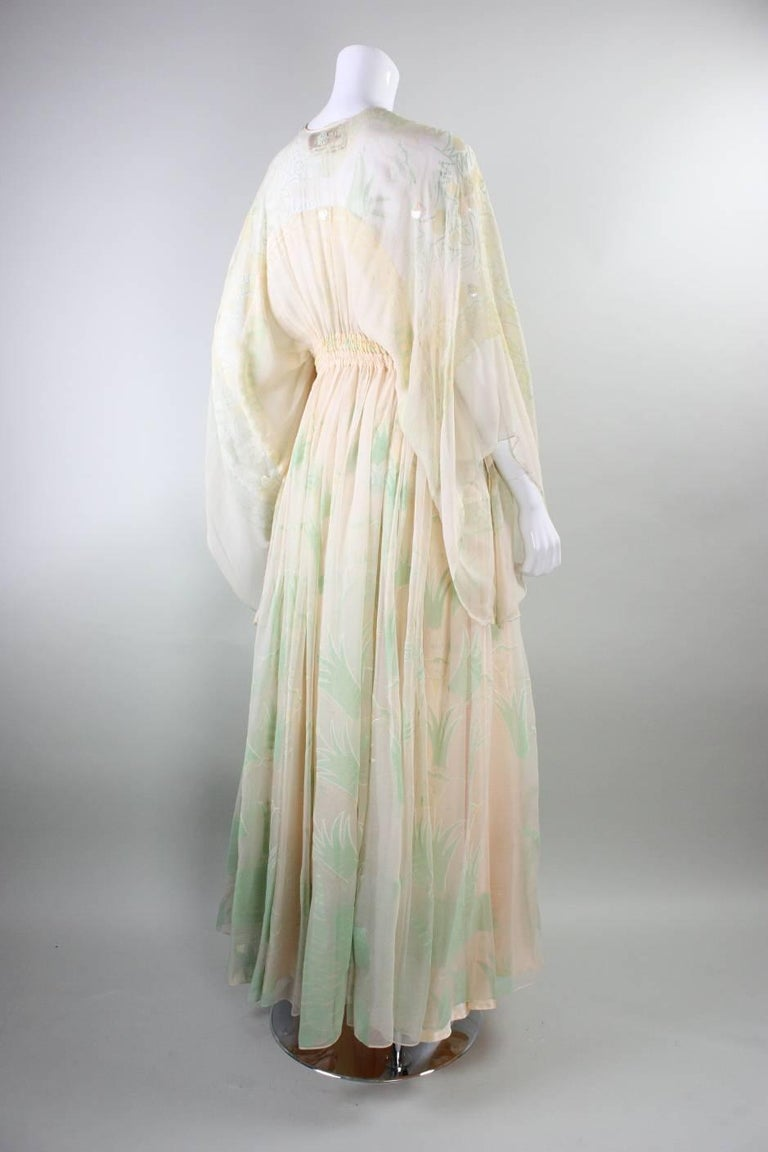 1970's Zandra Rhodes Field of Lilies Gown 4
