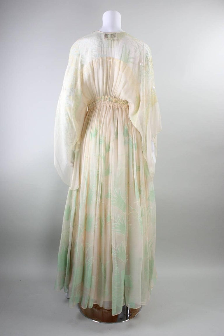 1970's Zandra Rhodes Field of Lilies Gown 5