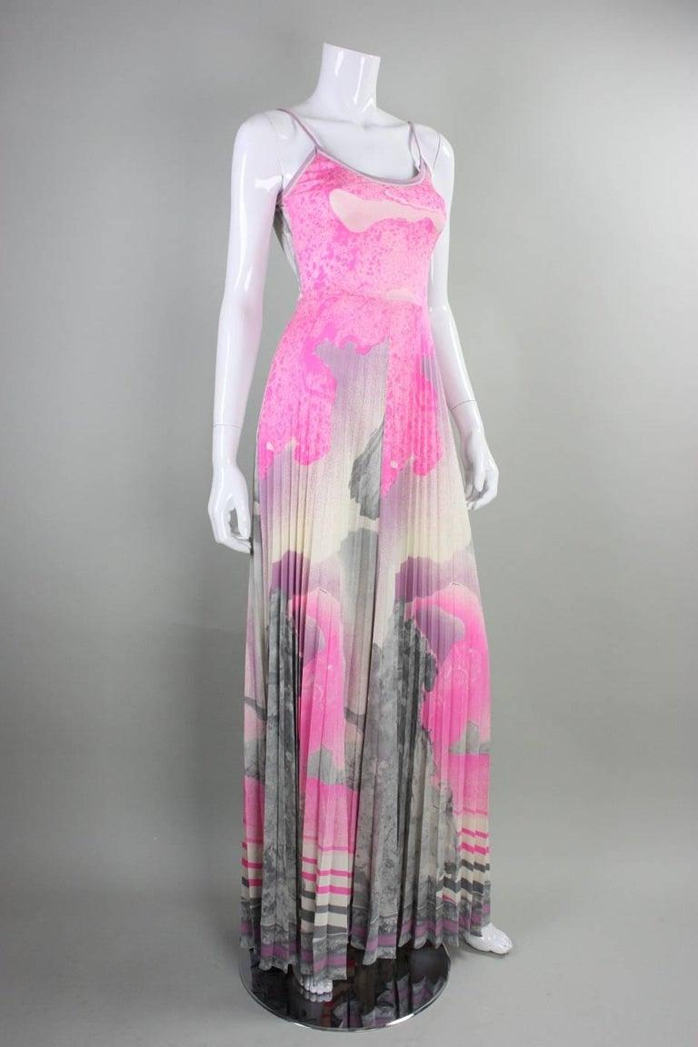 1970's Leonard Paris Jersey Maxi Dress 2