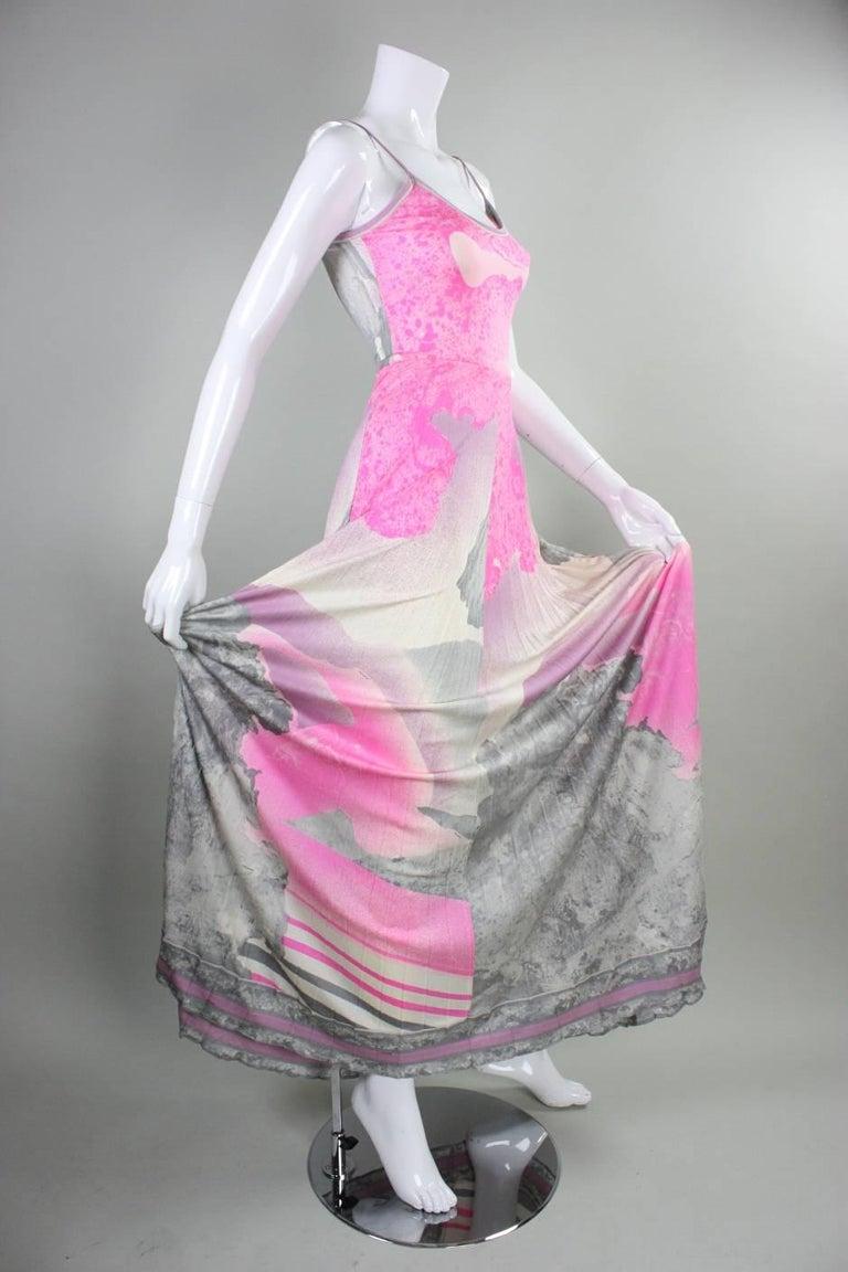 1970's Leonard Paris Jersey Maxi Dress 5