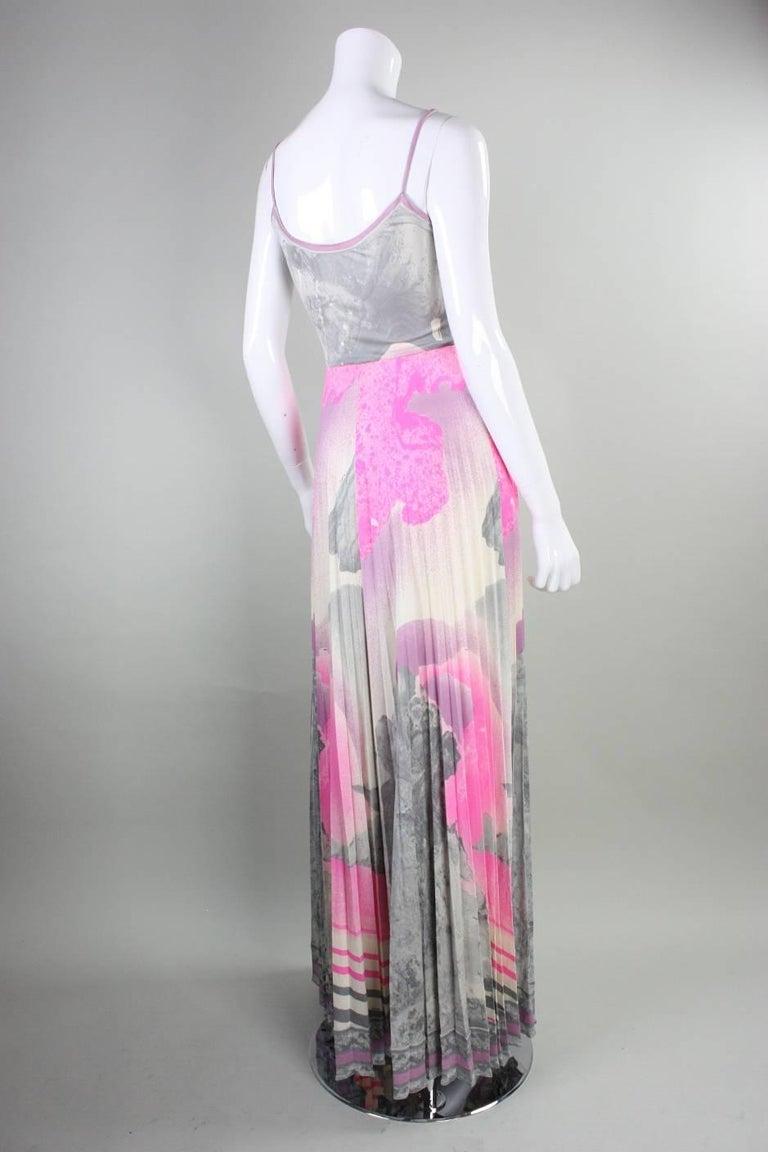 1970's Leonard Paris Jersey Maxi Dress 3