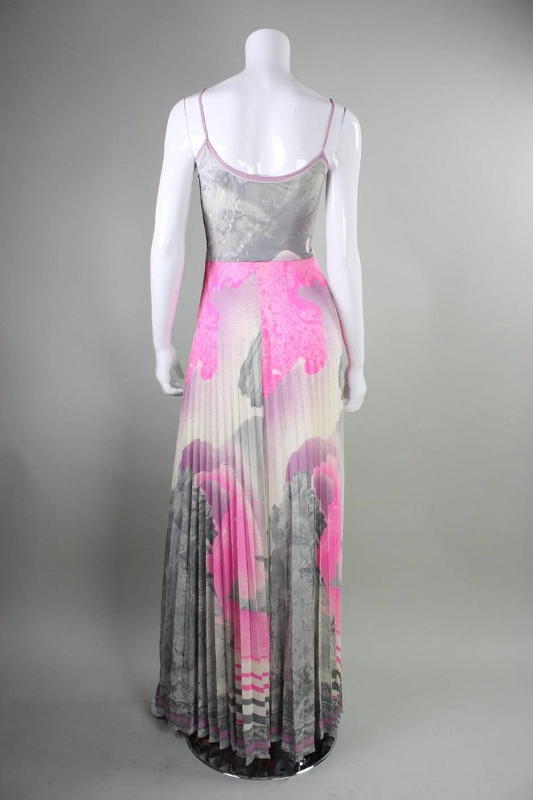 1970's Leonard Paris Jersey Maxi Dress 4