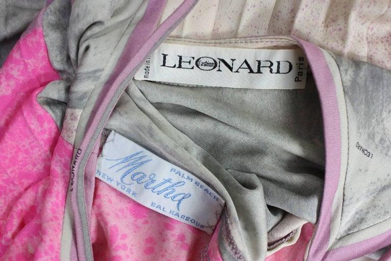 1970's Leonard Paris Jersey Maxi Dress 8