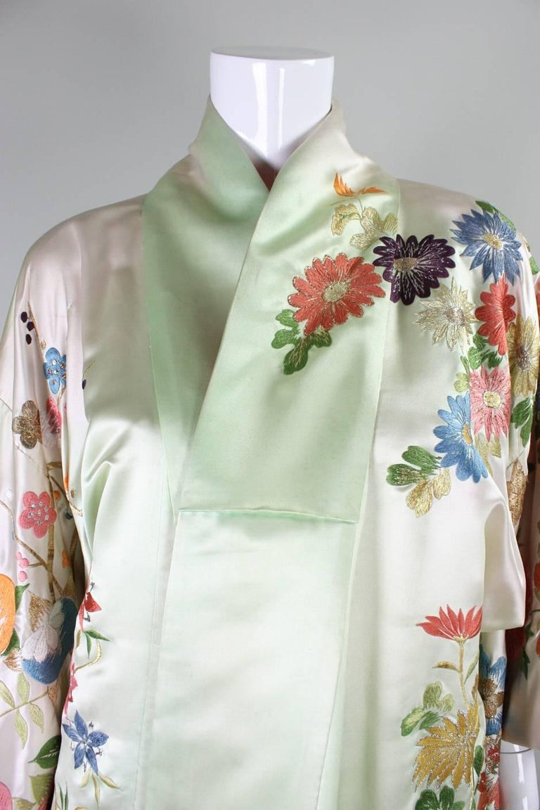 Vintage Japanese Embroidered Wedding Kimono For Sale At