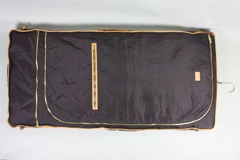 Gray 1990's Louis Vuitton Monogram Garment Bag Luggage For Sale