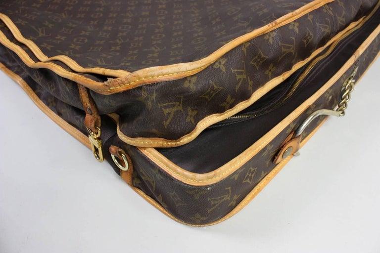 1990's Louis Vuitton Monogram Garment Bag Luggage For Sale 4