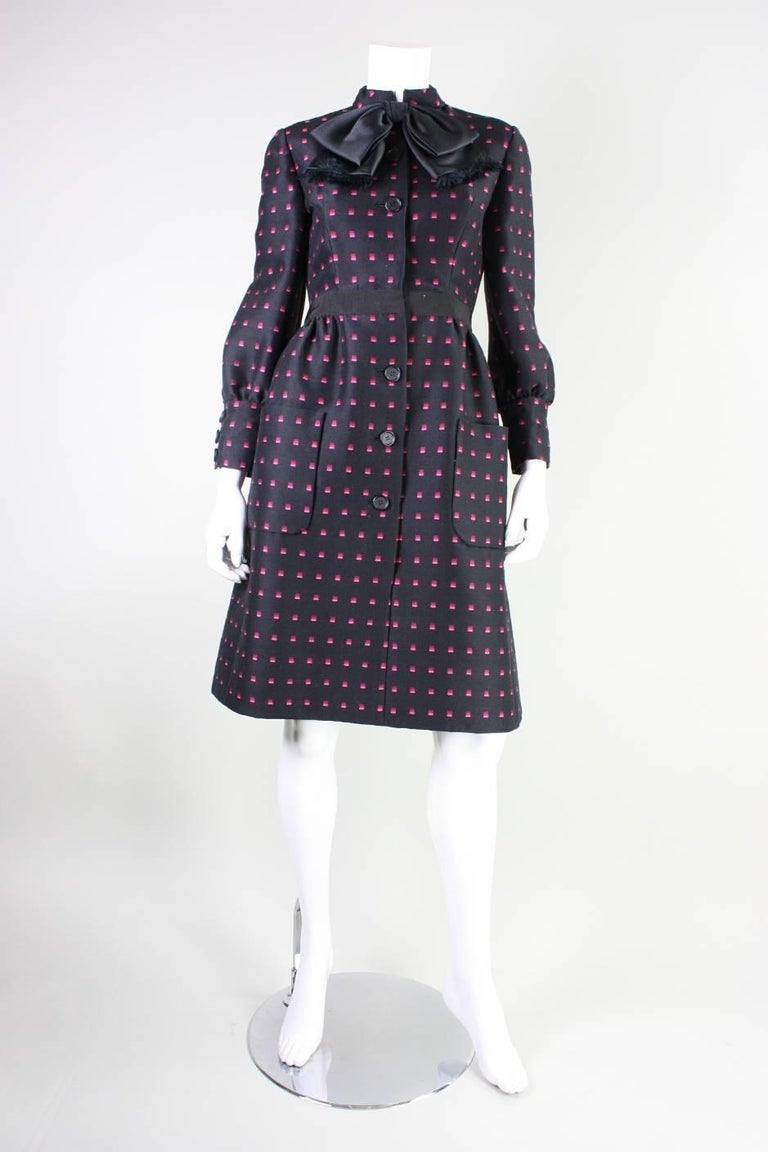 1960's Chester Weinberg Dress with Geometric Print 2