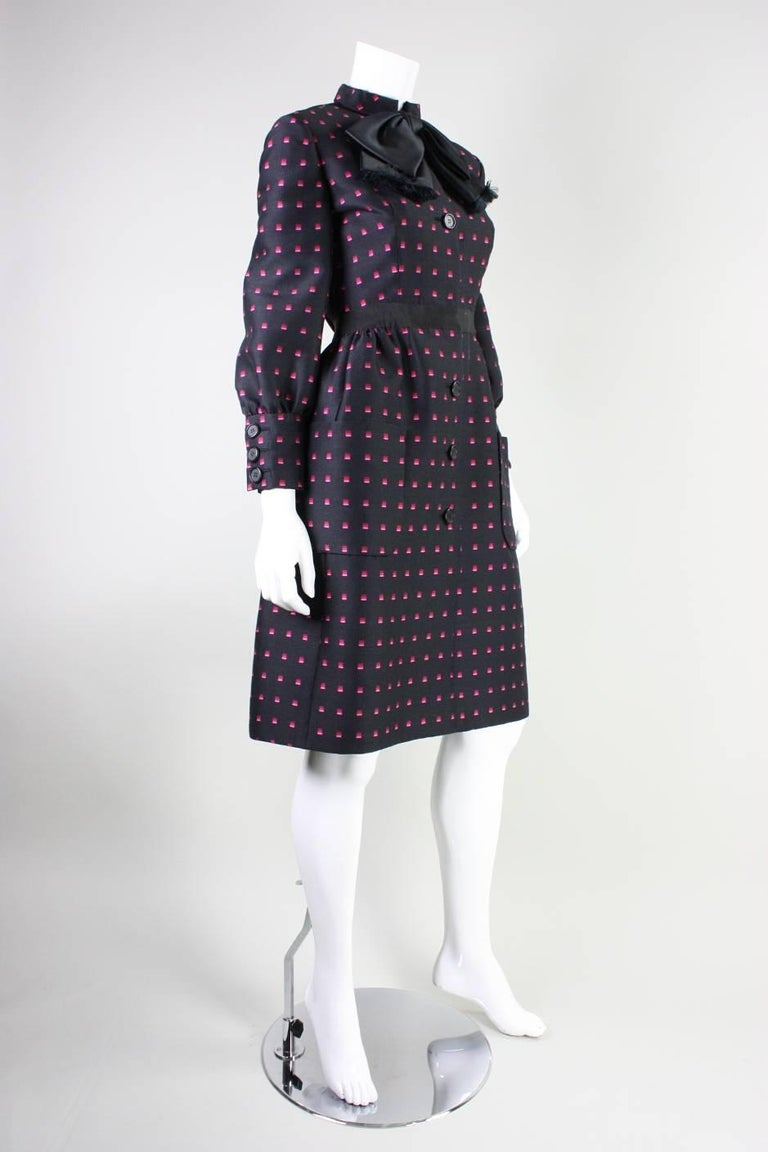 1960's Chester Weinberg Dress with Geometric Print 3