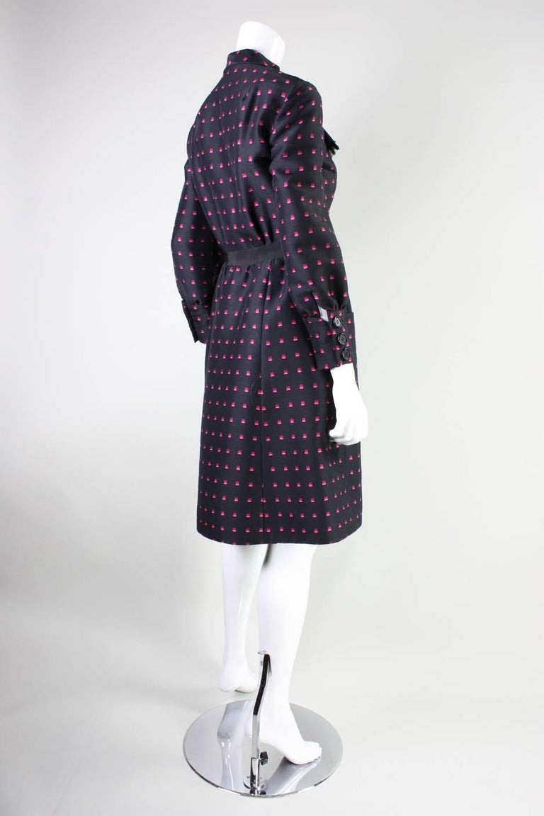 1960's Chester Weinberg Dress with Geometric Print 4