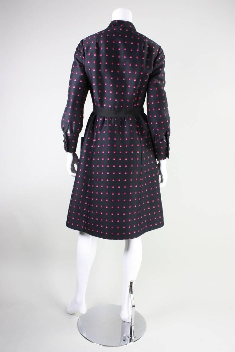 1960's Chester Weinberg Dress with Geometric Print 5
