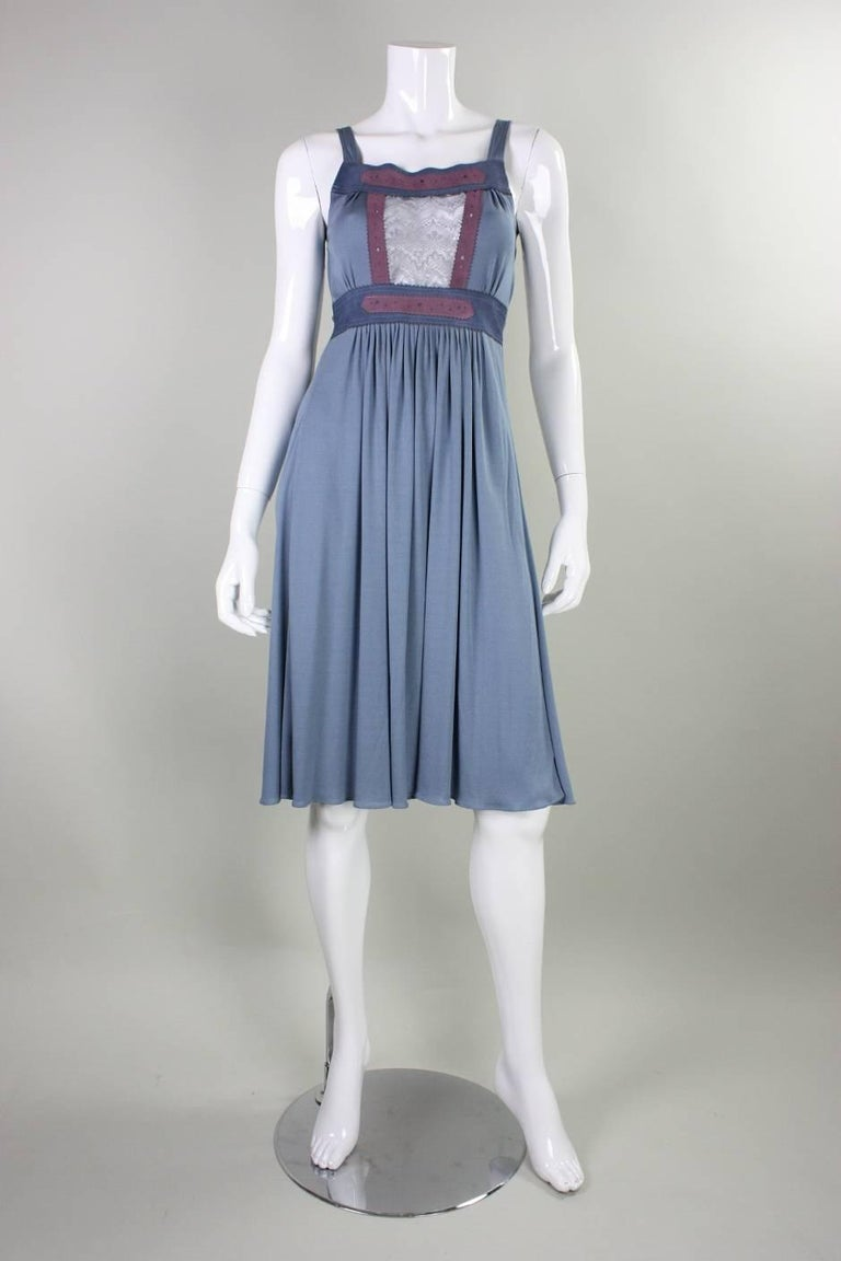 1970's Ann Buck Matte Jersey & Lace Dress 2