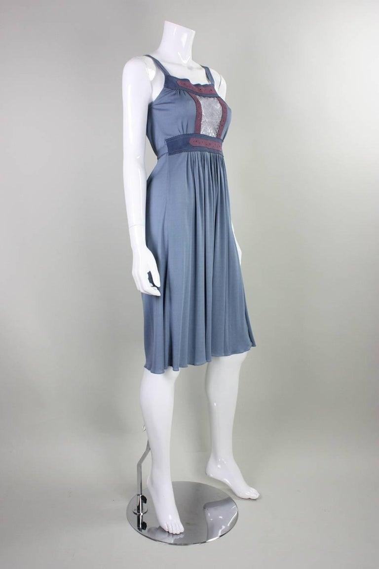 1970's Ann Buck Matte Jersey & Lace Dress 3