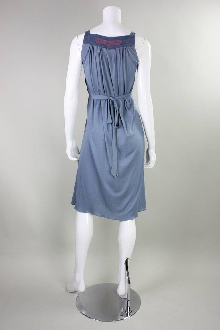 1970's Ann Buck Matte Jersey & Lace Dress 5
