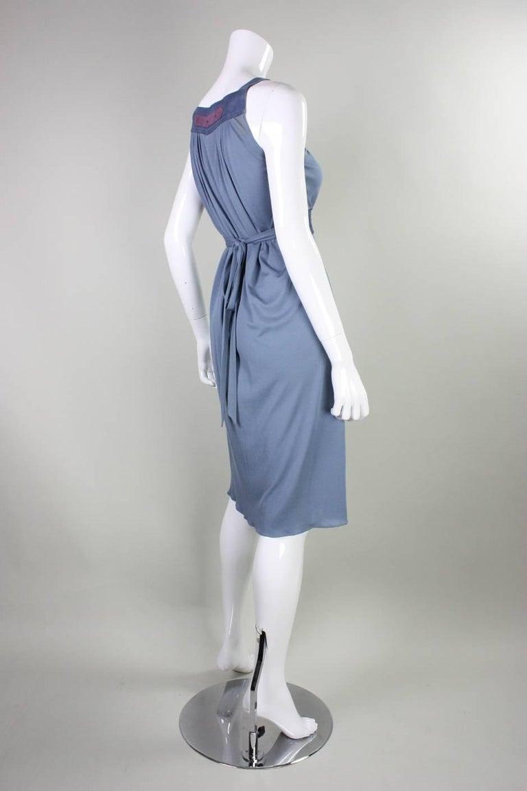 1970's Ann Buck Matte Jersey & Lace Dress 4