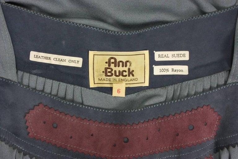 1970's Ann Buck Matte Jersey & Lace Dress 8