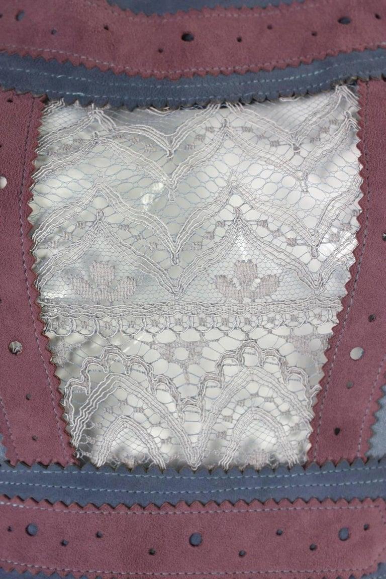 1970's Ann Buck Matte Jersey & Lace Dress 7