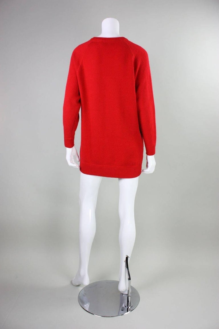 Vintage William Kasper Humorous Cashmere Sweater In Excellent Condition For Sale In Los Angeles, CA
