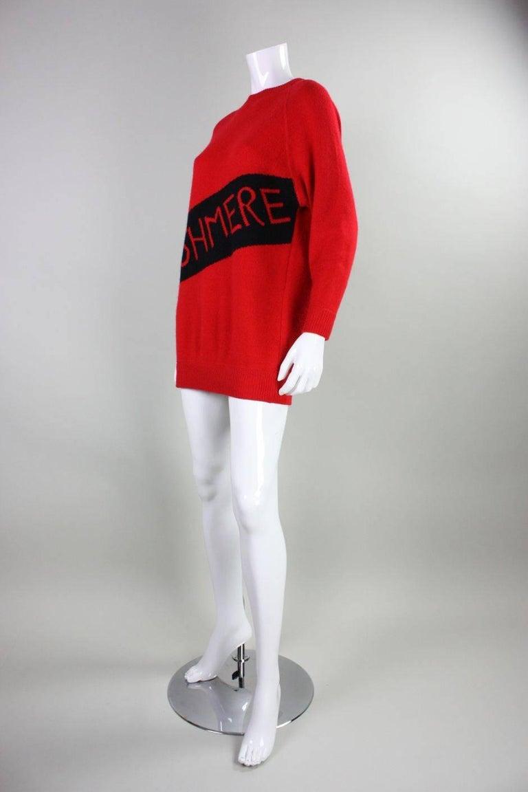 Women's Vintage William Kasper Humorous Cashmere Sweater For Sale