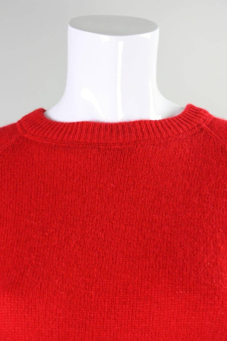 Vintage William Kasper Humorous Cashmere Sweater For Sale 2