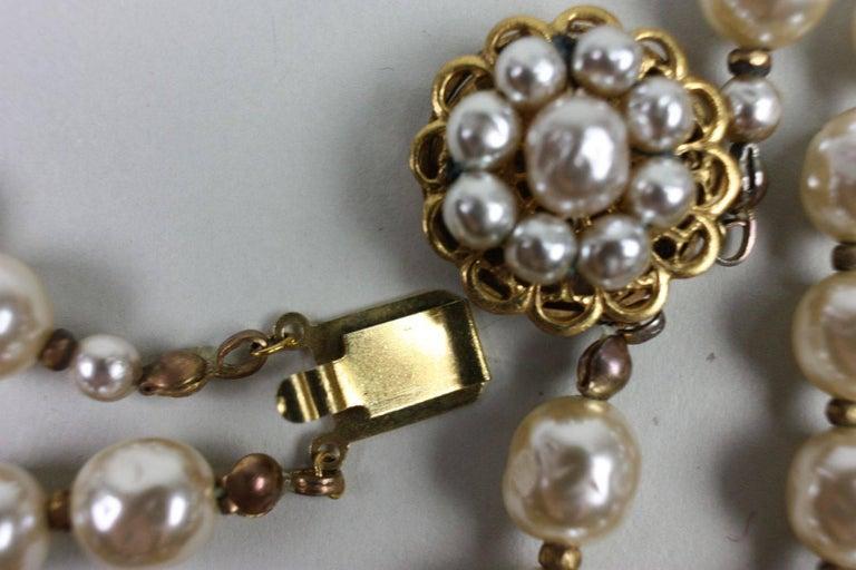 Miriam Haskell Baroque Pearl & Rhinestone Necklace 7