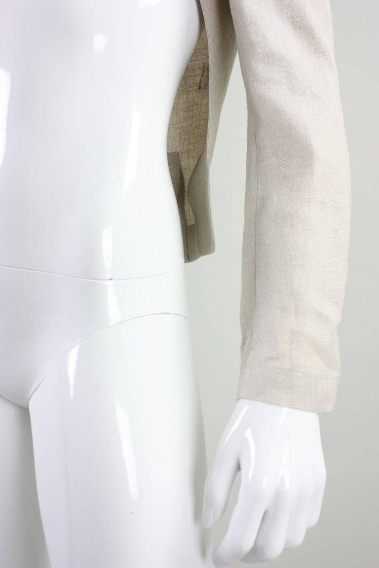 Yohji Yamamoto Cutaway Linen Jacket For Sale 1