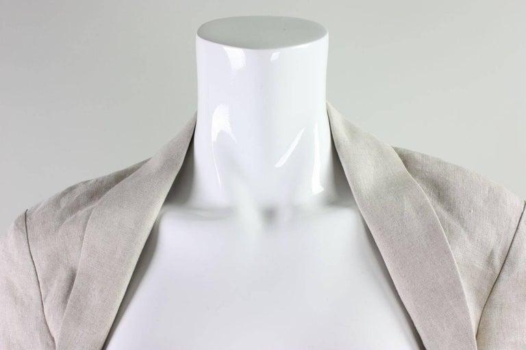 Women's Yohji Yamamoto Cutaway Linen Jacket For Sale