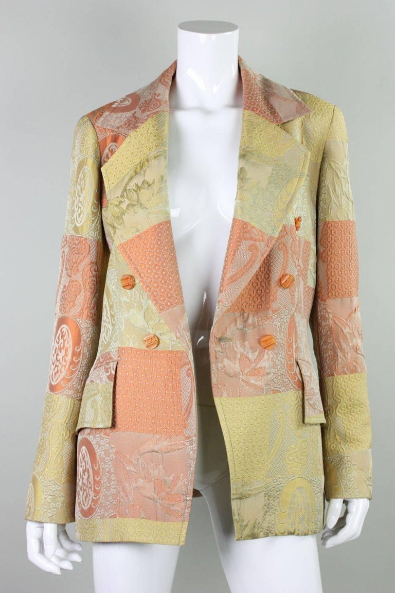 Women's 1990's Christian Lacroix Jacquard Blazer For Sale