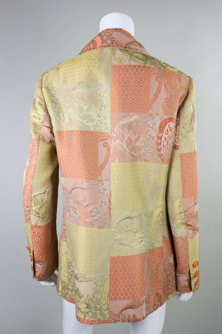 1990's Christian Lacroix Jacquard Blazer In Excellent Condition For Sale In Los Angeles, CA