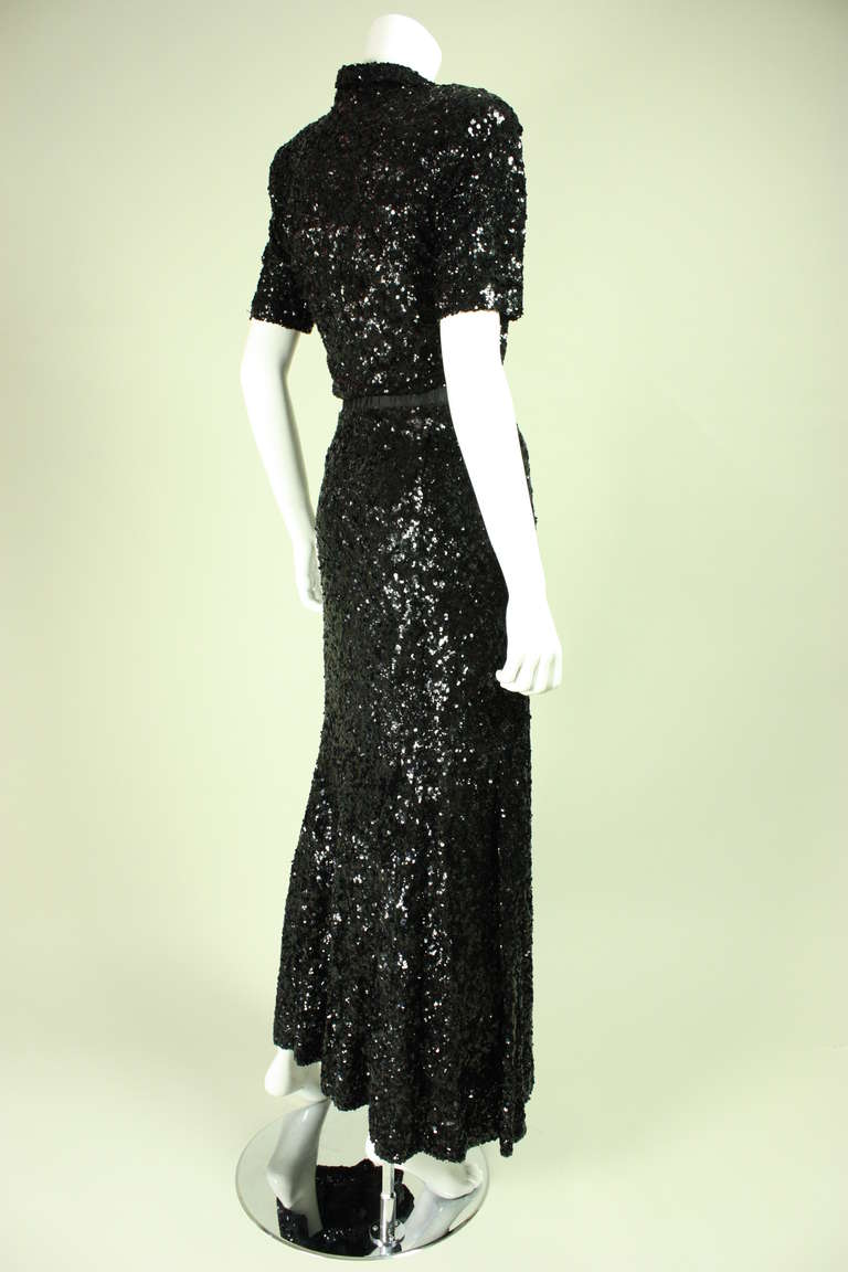 1940's Fully Sequined Evening Gown 4