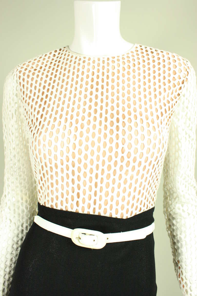 Galanos Black and White Gown, 1970s  For Sale 2