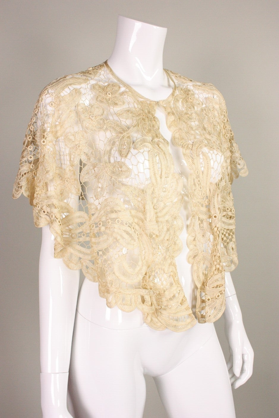 Edwardian Battenburg Lace Capelet 3