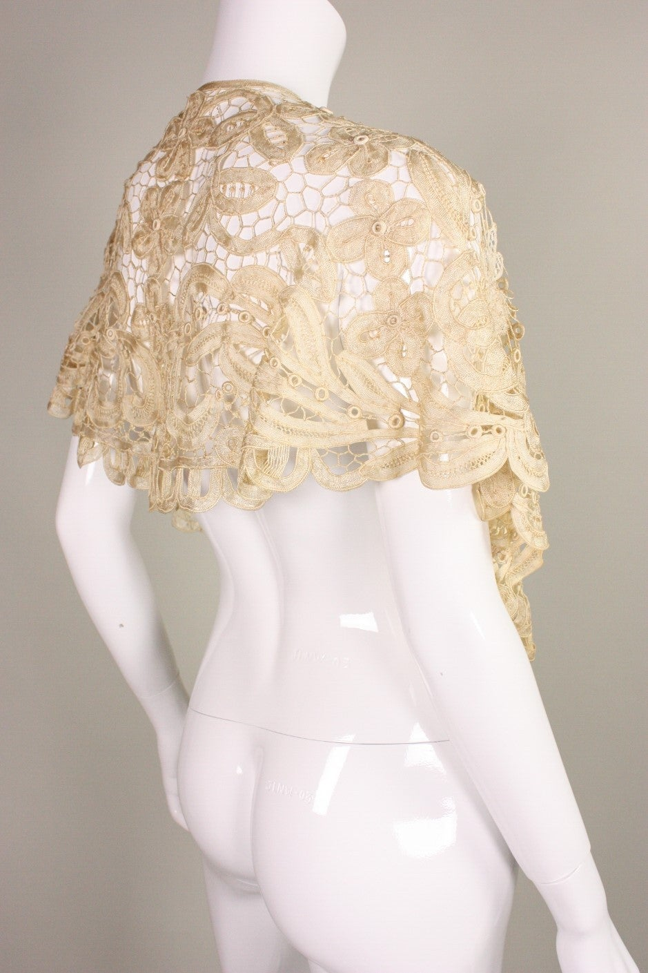 Edwardian Battenburg Lace Capelet 2