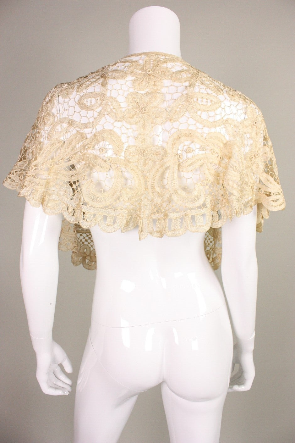 Edwardian Battenburg Lace Capelet 4